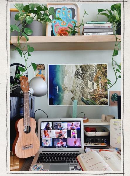 zoom online ukulele bonjuk